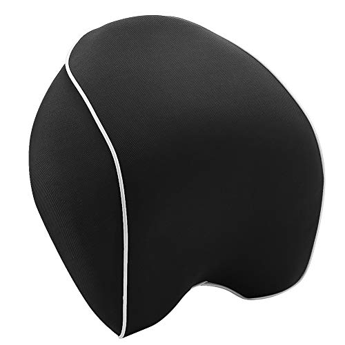Jasper Technology Car Headrest Pillow - Memory Foam Neck Pillow Support Car Home - Soft Car Seat Cushion Ergonomic Design Driving Relief Neck Head Pain Machine Washable ()