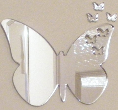 Butterflies Out of Butterfly Mirror 12cm X 6cm (5inch x 2.5inch)