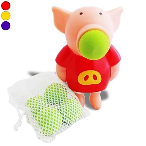 Cerdo balón lanzadores de bala del extractor con 5 bolas de espuma ...