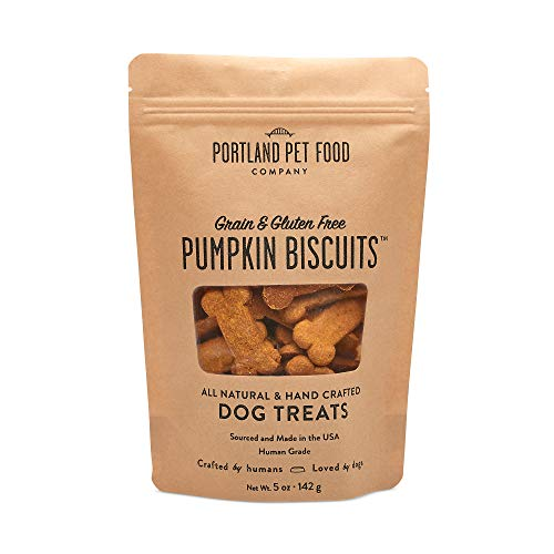 Homemade Dog Treats For Halloween (Crafted by Humans Loved by Dogs Portland Pet Food Company Pumpkin Biscuit Dog Treats,)