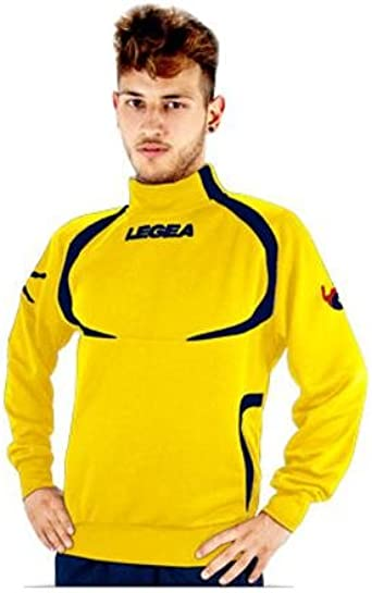 LEGEA Tokyo - Jersey de chándal para Hombre, Color Amarillo y Azul ...