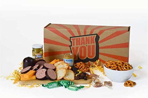 Dan the Sausageman's Thank You Gift Basket -Featuring100% Beef Summer Sausage, Wisconsin Cheese, and Dan's Sweet Hot…