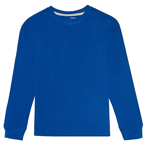 (French Toast Boys' Long Sleeve Solid Thermal, Surf The Web 6)