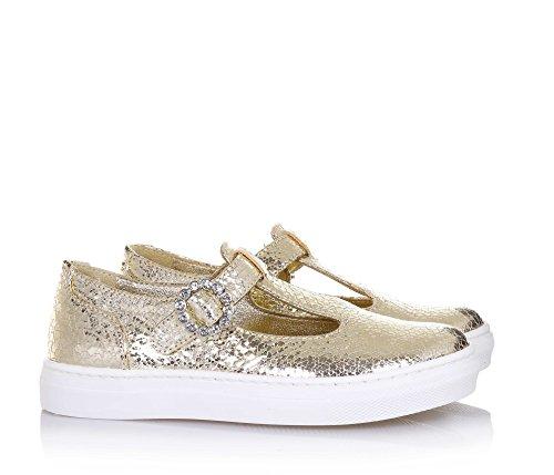 MI. MI. Sol , Chaussures de ville à lacets pour fille - or - or, 35 EU EU