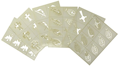 Badger Totally Tattoo Body Art Stencils Religious Theme Pack]()