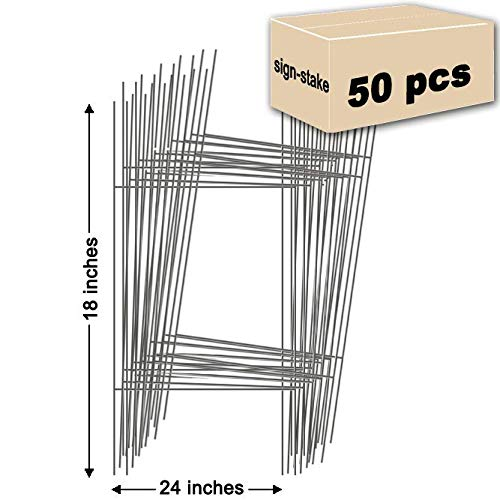 - 50 Yard Sign Stakes Double H-Frame Stakes | 10 in. x 30 in.
