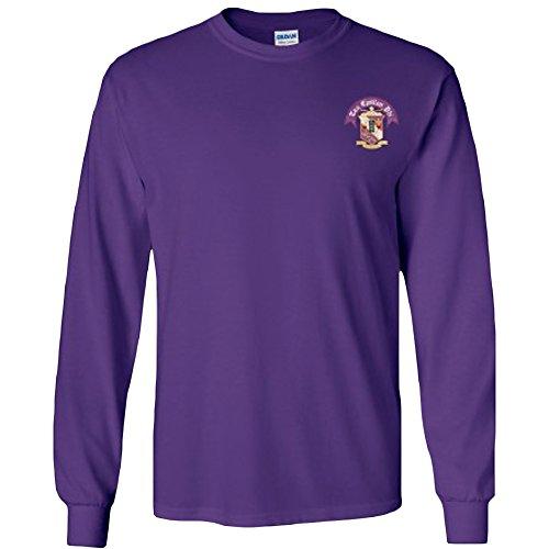 (Tau Epsilon Phi Fraternity Crest Longsleeve Tee Medium Purple)