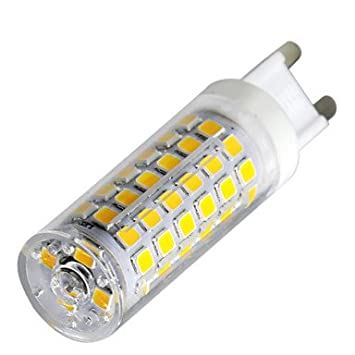 ywxlight regulable 9w g9 led bi-pin luces 88led 2835smd 750-850lm blanco cálido