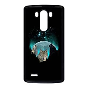 LG G3 Cell Phone Case Black Wolves Twilight Harvest Moon V1C1F