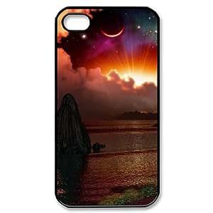 Diy Beautiful Landscapes Nature Phone Case for iphone 4 Black Shell Phone JFLIFE(TM) [Pattern-1]