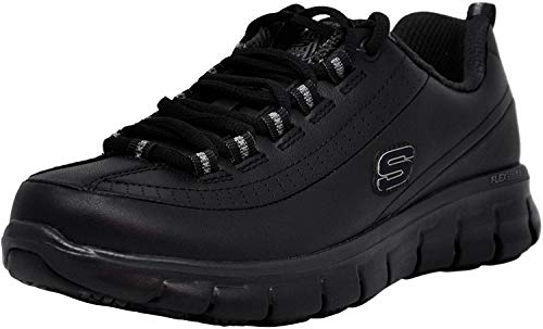 Skechers for Work Women's Sure Track Trickel Slip Resistant Work Shoe, Black, 8 M US (Work Women Shoes)