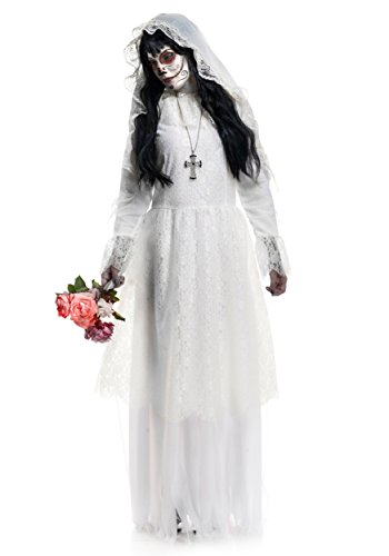 Nightshade Gown Costume - Medium - Dress Size (Adult Skeleton Bride Costumes)