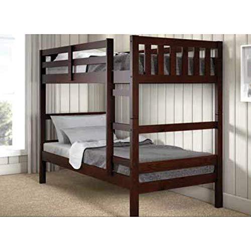 Donco Kids 1566-TTCP Austin Bunk Bed, Twin/Twin, Dark Cappuccino ()