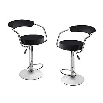 Amazon.de: 2 x Frühstücks Drehstühle Küche Kunstleder Stuhl schwarz ...