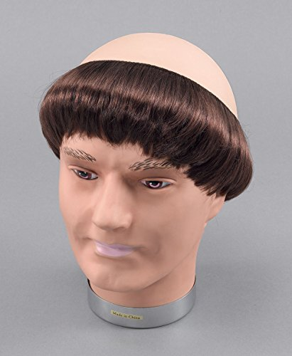 [Brown Mens Monk Wig With Short Hair] (Monks Costumes)