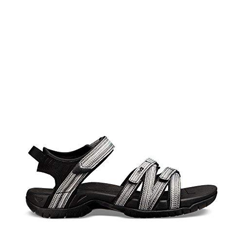 (Teva Women's W Tirra Sport Sandal, Black/White Multi, 6.5 M US)