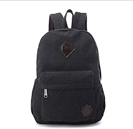 Mens  Vintage Canvas Backpack Rucksack School Laptop Travel Hiking Shoulder Bag