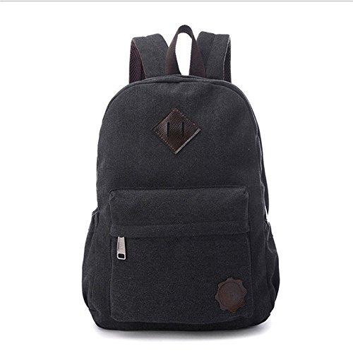 Men's Vintage Canvas backpack Rucksack laptop shoulder bag travel Camping bag (Oakley Mini Backpack)