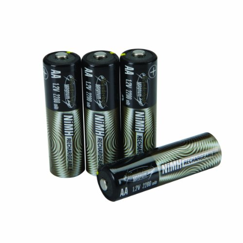 4 Piece AA High Capacity 2200 mAh NiMH Rechargeable Batteries