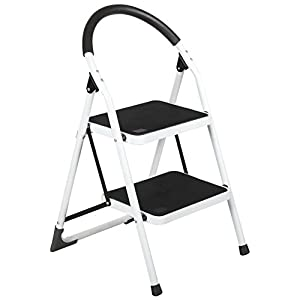 Idealchoiceproduct 2 Step Lightweight Folding Stool Heavy Duty Capacity Ladder Home Use