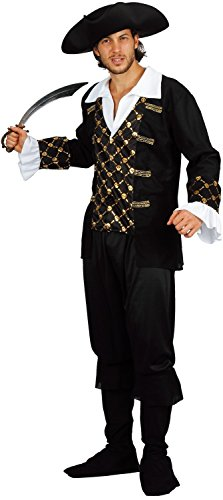 U LOOK UGLY TODAY Mens Halloween Costume Pirate Cosplay for Adult Fancy Party Dress -