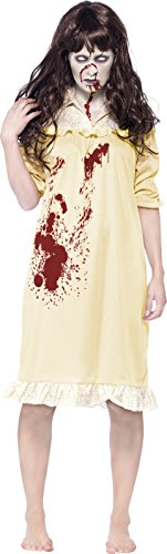 Smiffy's Women's Zombie Sinister Dreams Costume, Night Dress and Wig, Zombie Alley, Halloween, Size 14-16, 43723