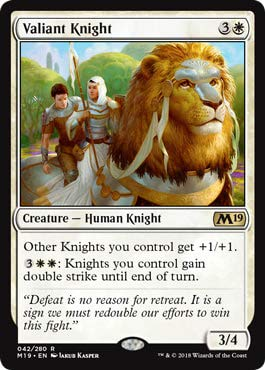 Magic: The Gathering - Valiant Knight - Core Set 2019]()
