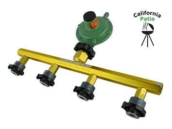 カセットガスアダプター+ホースエンド専用ガス調整器 カリフォルニア パティオ