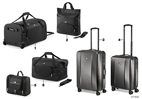 Bmw Genuine M Collection Hard Shell Locking Spinner Travel Suitcase