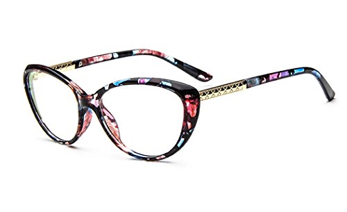 D.King Women Fashion Cat Eyeglasses Frames Clear Lens 56mm - Style Eyeglasses Cat