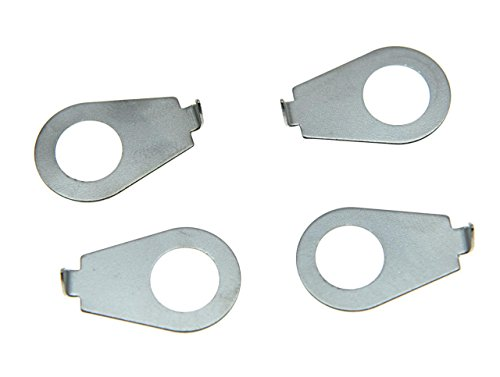 Indicator Pointer (Dopro Set of 4 Chrome LP Guitar Knobs Pointer Plate Knob Indicator for Epiphone LP Les Paul)