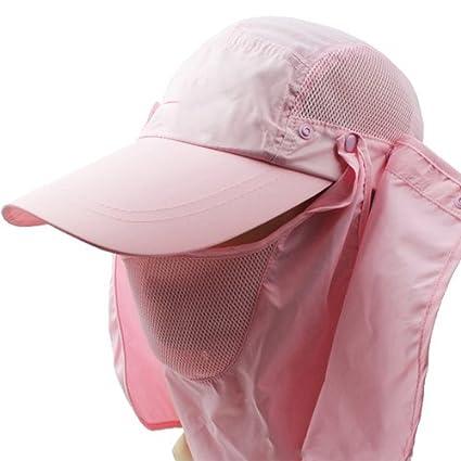 5100deba7bd 3CERA® Outdoor 360 UV protection Sun block hat Folding visor fishing Nylon Cap  hiking (