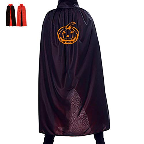 Yellow Pumpkin Lantern Double Hooded Robes Cloak Knight Cosplay Costume 47(in)