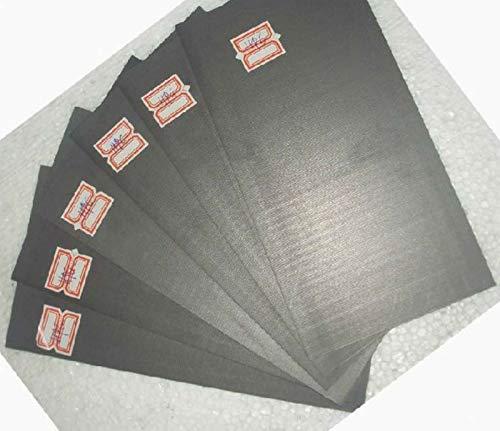 5pcs 99.99% Pure Graphite Electrode Rectangle Plate Sheet 50 x 40 x 3mm