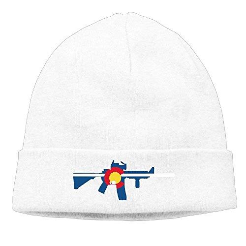 Cotton Hat AR15 WL longkouishilong Flock Flag Beanie Ski Winter béisbol Knit Colorado State Unisex Warm Gorras Cap w0q0X6z