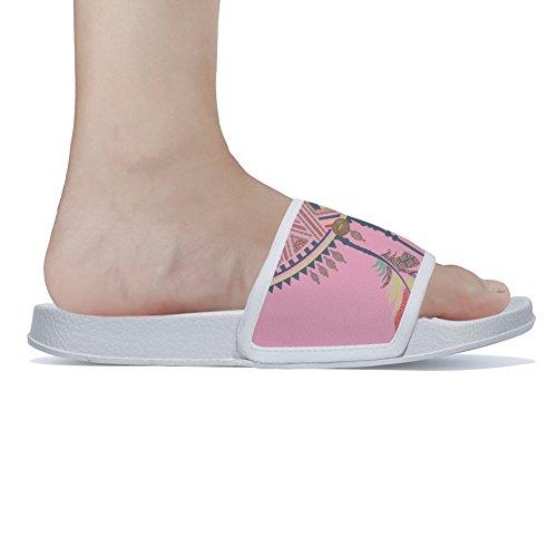 Antideslizantes Mujer Blanco Rápido Secado de Zapatillas Rosa para Color tqRvnw