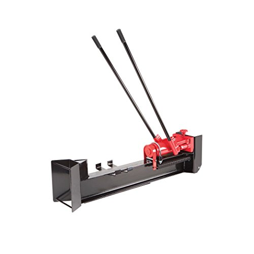 10 Ton Horizontal Log Splitter Wood Cutter Manual Hydraulic 2 Speed Wheel by Central Machinery