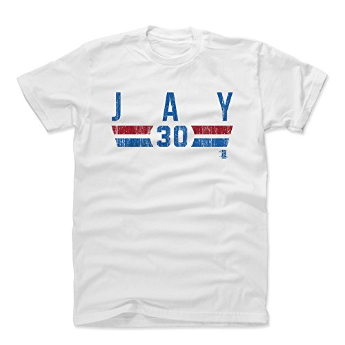 500 LEVEL's Jon Jay Cotton T-Shirt L White - Jon Jay Chicago Font B - Chicago Baseball Fan Gear