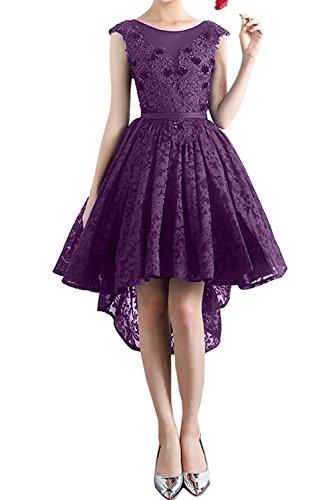Partykleider Promkleid Damen Abendkleider Ivydressing Rundkragen Sweetheart Violett Kurz Spitzenkleid d0wqPCqY