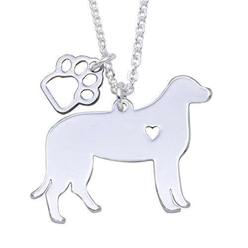 Melix Animal Yorkie Labrador Pitbull Husky Alaskan Akita Boxer Corgi Dachshund German Shepherd Golden Retriever Stainless Steel Pet Dog Doggy Pendant Necklace Gift