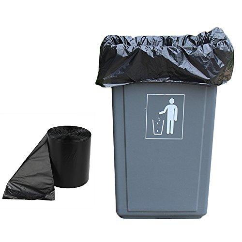 Black Plastic Waste Bags - 6