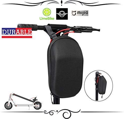 Fish Eating Cat FEC Scooter Storage Bag, Electric Scooter Front Suspension Bag Durable EVA can accommodate car Charger Tool for Ninebot, Xiaomi M365, Black