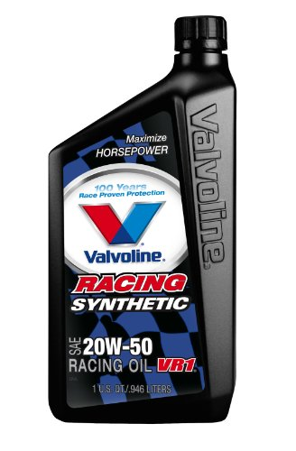 Valvoline 20W-50 VR1 Synthetic Racing Motor Oil - 1qt (Case of 6) (679082-6PK) (Synthetic Racing)
