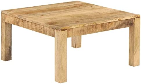 Beste Plaats Tidyard salontafel Mango massief hout 80 × 80 × 40 cm F1MDeqL