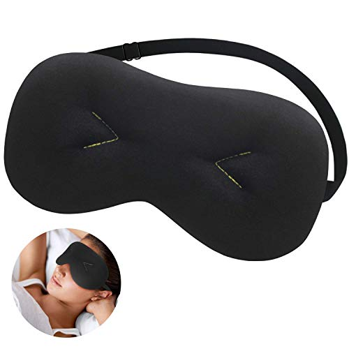 Sysrion Weighted Sleep Eye Mask Pillow, Cold Therapy Sleeping Mask for Headache, Migraine, Sinus Pain, Puffy Dry Eyes, Compression Pain Relief on Eyes