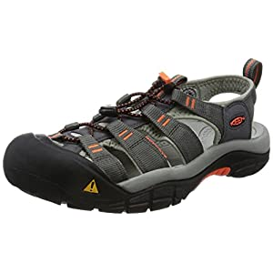 KEEN Men's Newport H2 Hiking Shoe, Magnet/Nasturtium, 10 M US