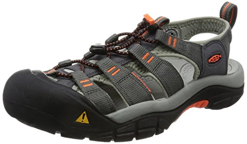 KEEN Men's Newport H2 Hiking Shoe, Magnet/Nasturtium, 14 M US