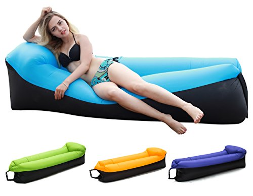 Inflatable Lounger Chair with portable carry bag for various uses (Blue Sofa)