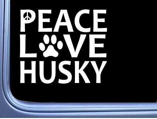 Siberian Husky Peace Love L594 Dog Sticker 6