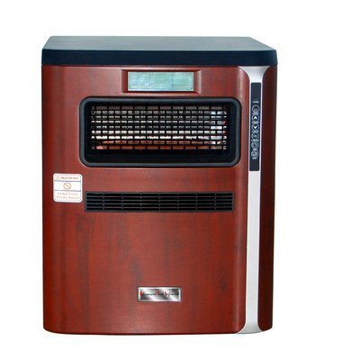 Fangio Lighting HEAT PURE PLUS 1500 Transitional ATI/Advance Tech Infrared Vortex Heater, Woodgrain Front by Fangio Lighting